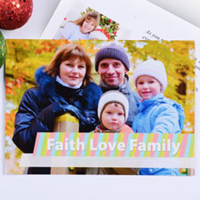Print Your Own Faith Love Family Cards