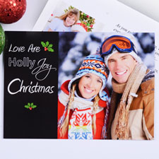 Print Your Own Love Are Holly Joy Christmas Cards