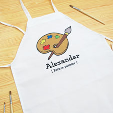 Little Painter Personalized Kids Apron