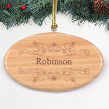 Personalized Engraved Heartwarming Wishes Wood Ornament