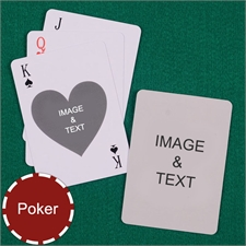 Poker Heart Custom 2 Side Playing Cards