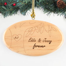 Personalized Engraved Our Love Grows Personalized Wood Ornament Wood Ornament
