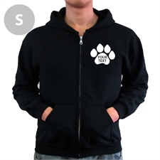 Paw Print Custom Words Black Small