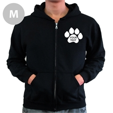 Paw Print Custom Words Back Medium