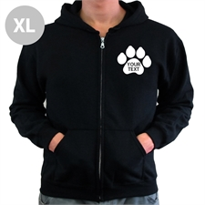 Paw Print Custom Words Black Extra Large