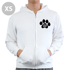 Paw Print Custom Full Zipped Hoodies Extra Small