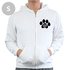 Paw Print Custom Full Zipped Hoodies Small