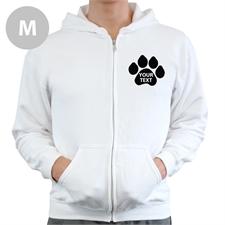 Paw Print Custom Full Zipped Hoodies Medium