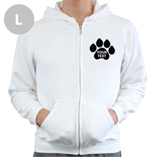 Paw Print Custom Full Zipped Hoodies Large