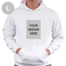 Custom Portrait White Large Size Hoodies