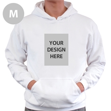Custom Portrait White Medium Size Hoodie Sweater