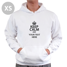Keep Calm & Add Your Text Custom Hooded Sweater Xs