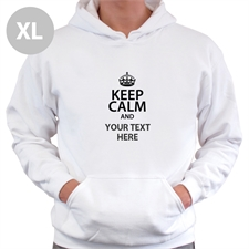Keep Calm & Add Your Text Custom Hooded Sweater Xl