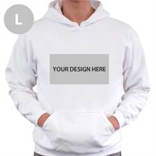 Custom Landscape Image & Text White Large Size Hoodies