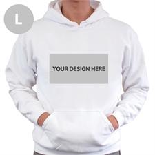 Custom Landscape Image & Text White Large Size Hoodies