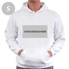 Gildan Custom Landscape Image & Text White without zipper Small Size