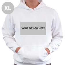 Custom Landscape Image & Text White Without Zipper Extra Large Size