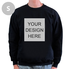 Design Your Own Personalized Photo Black S Sweatshirt