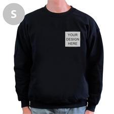 Custom Design Print Your Logo Black Sweatshirt, S
