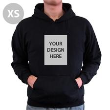 Personalized Hoodies Custom Portrait Black Extra Small Size