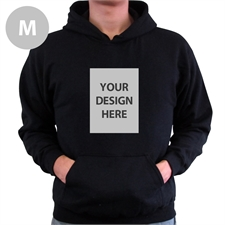 Custom Portrait Black Medium Size Hoodies