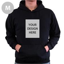 Custom Portrait Black Medium Size Hoodies