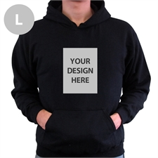 Custom Portrait Black Large Size Hoodies