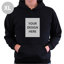 Custom Portrait Black Extra Large Size Hoodies