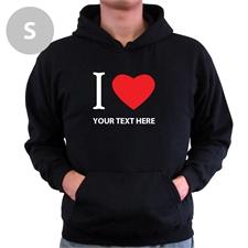 Personalized I Love (Heart) Black Small