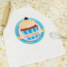 My Little Cupcake Personalized Boy Apron
