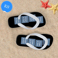 Personalized Flip Flops Eight IMAGES, Kids Small-White