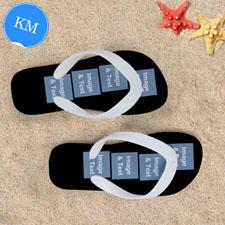 Personalized Flip Flops Eight IMAGE, Kids Medium