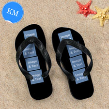 Personalized Flip Flops Eight IMAGE, Kids Medium