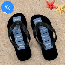 Personalized Flip Flops Eight IMAGE, Kids Large
