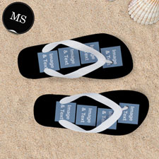 Personalized Flip Flops Eight IMAGE, Kids X-Large