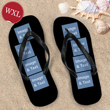 Personalized Flip Flops Eight IMAGE, Women's X-Large