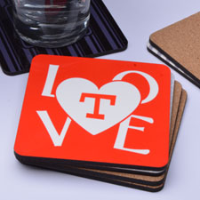 Love Personalized Cork Coaster
