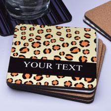 Personalized Leopard Print Skin (One Coaster)