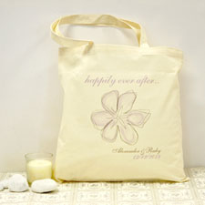 Personalized Vintage Garden Cotton Tote Bag