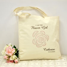 Personalized Cherry Blossom Cotton Tote Bag