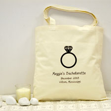 Personalized Wedding Forever Ring Cotton Tote Bag