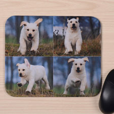 Custom Printed Four Collage Design Mouse Pad