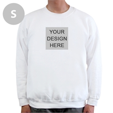 Design Your Own Image & Text Below White S Sweatshirt