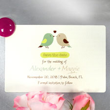Love Birds Personalized Save The Date Photo Magnets