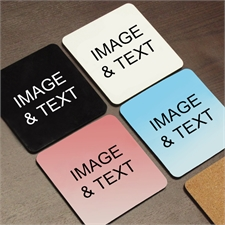 Custom Imprint Full Color Cork Coaster (Set Of 4)