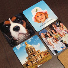 Personalized Photo Cork Coaster (Set Of 4)
