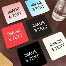 Custom Imprint Full Color Cork Coaster (Set Of 6)