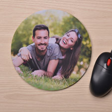 Custom Printed Round Photo Gallery Design Mouse Pad
