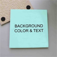 Personalized Color And Text Tile Coaster