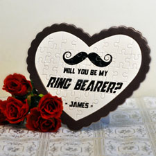Ring Bearer Personalized Heart Shape Puzzle